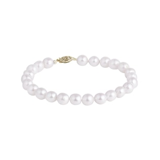 Akoya pearl bracelet in white gold