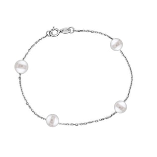 Bracelet made of white gold with Akoya pearls