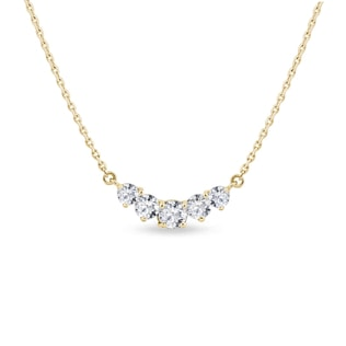 Collier de luxe en or jaune et diamants