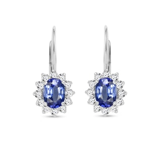 Sapphire and diamond earrings in 18kt gold