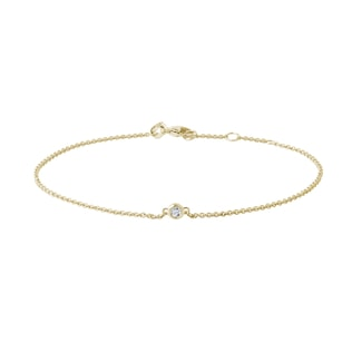 Simple diamond bracelet in yellow gold
