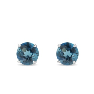 London topaz earrings in 14kt gold