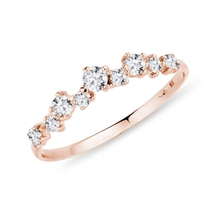 Diamond ring pink gold