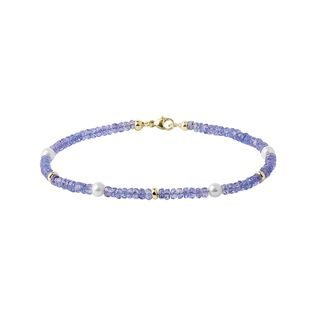 Tanzanite bracelet with pearls