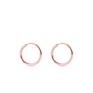Children's hoop earrings in rose gold
