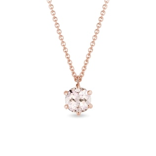 Morganite pendant in rose gold