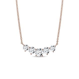 Luxury diamond necklace in pink gold