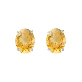 Citrine stud earrings in 14kt gold