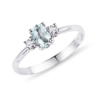 Bague en or, aigue-marine et diamants