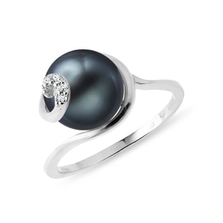 Tahitian pearl ring in 14kt gold