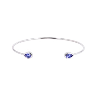 Tanzanite flexi bracelet in white gold