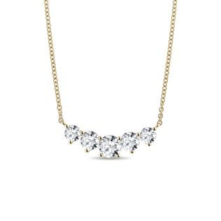 Luxury diamond necklace in yellow gold