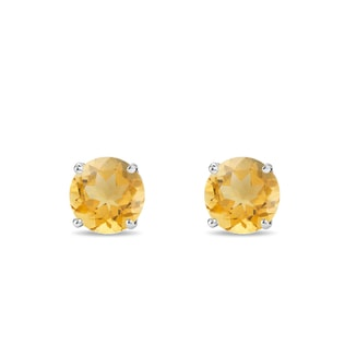 Citrine earrings in 14kt gold