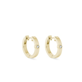 Diamond earrings in 14kt solid gold