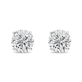 Stud earrings with 0.75ct diamonds in 14kt white gold