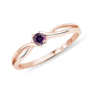 Amethyst Ring in Roségold