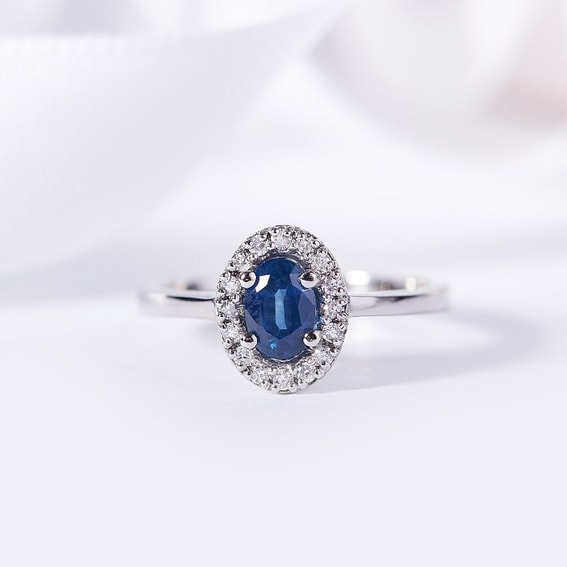 Sapphire, a precious gemstone with the colour of the night sky