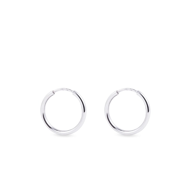 Earrings in 14kt white gold