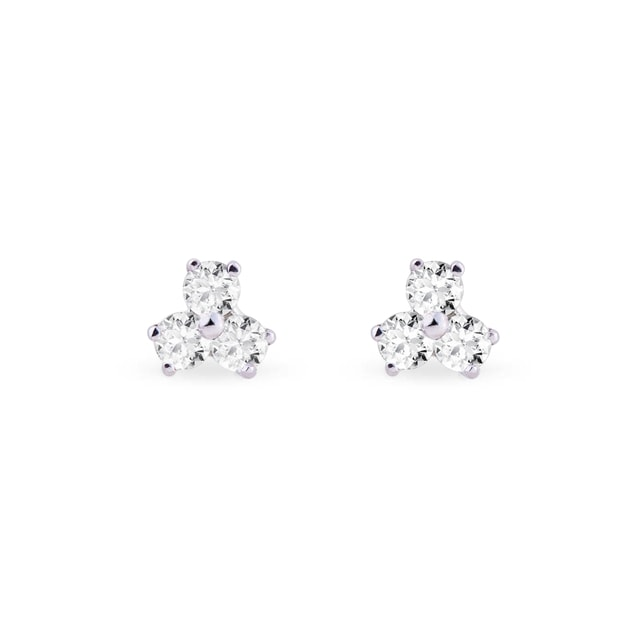 Boucles d'oreilles 3 diamants