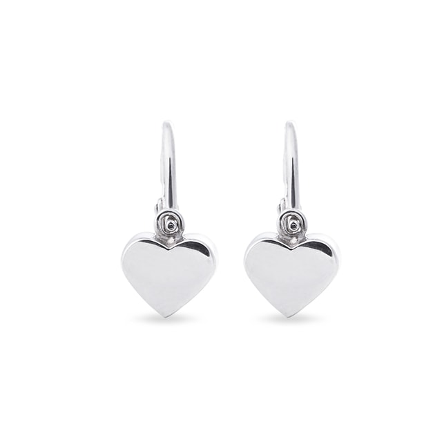Baby earrings in 14kt white gold