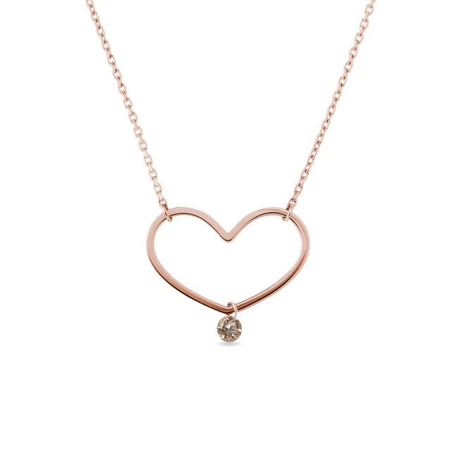 Champagne diamond necklace in rose gold