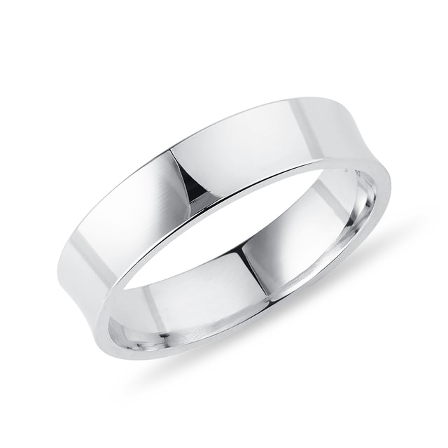 Men's ring in white gold