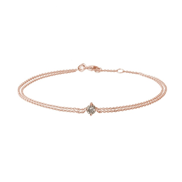 Champagne diamond bracelet in rose gold