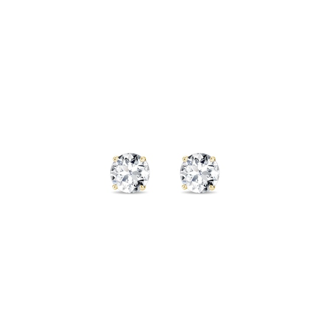 Earrings in 14kt gold with 0.1ct diamonds