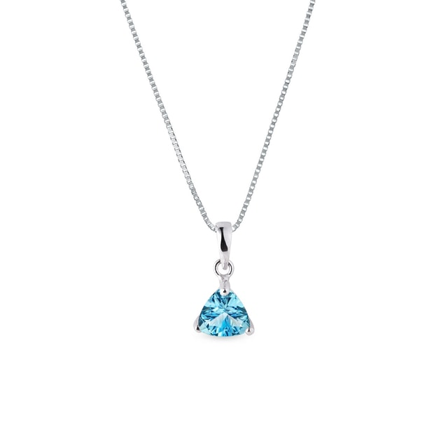 Topaz pendant in white gold