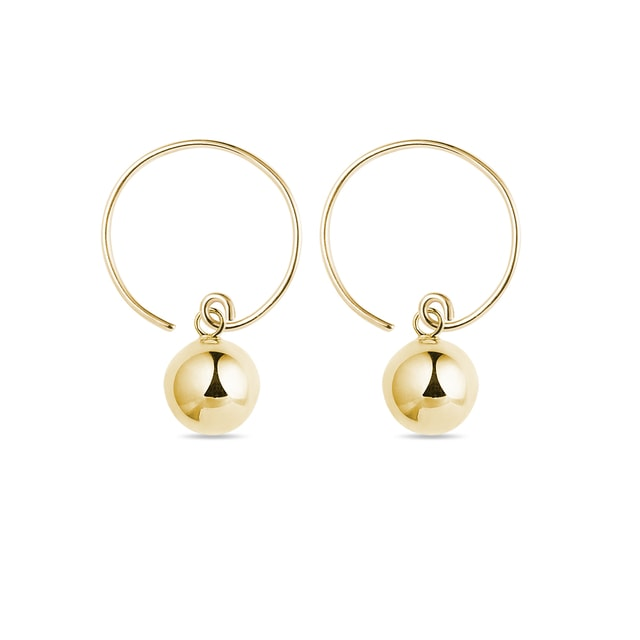 Remarkable gold ball earrings