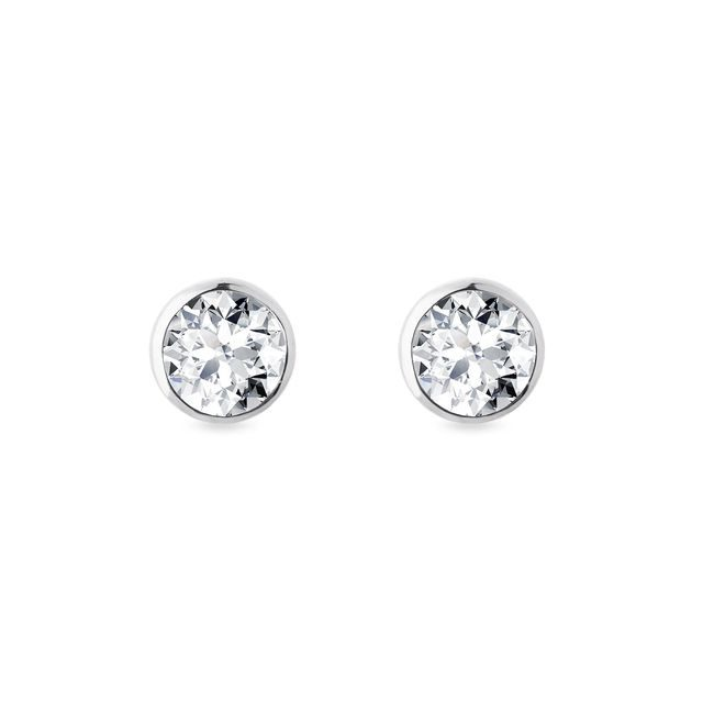 Half carat diamond earrings in white gold