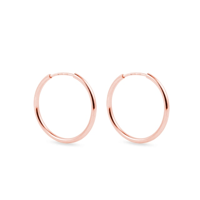 Rose gold hoop earrings