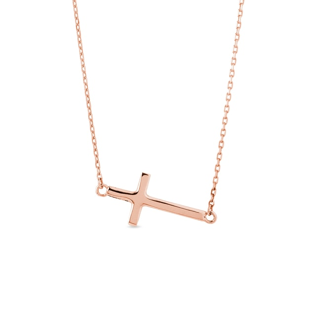 Cross necklace in rose gold