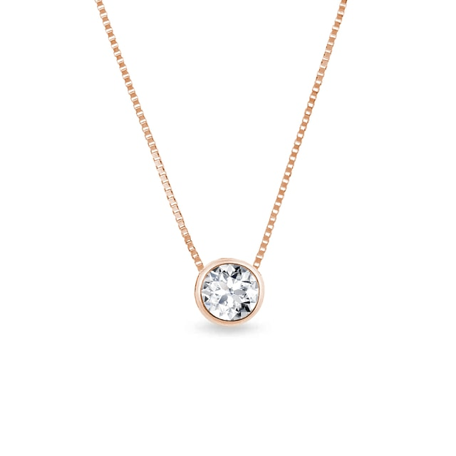 collier de diamants en or rose