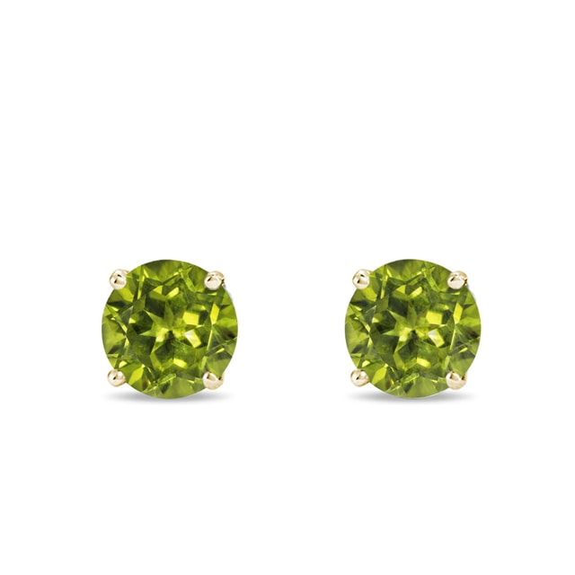 Peridot earrings in 14kt gold