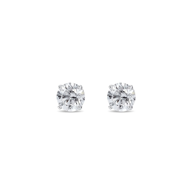 Diamond earrings for children in 14kt gold