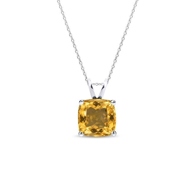 Citrine necklace in sterling silver
