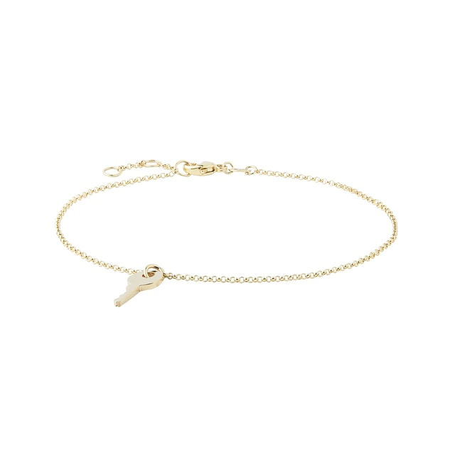 Key bracelet in gold