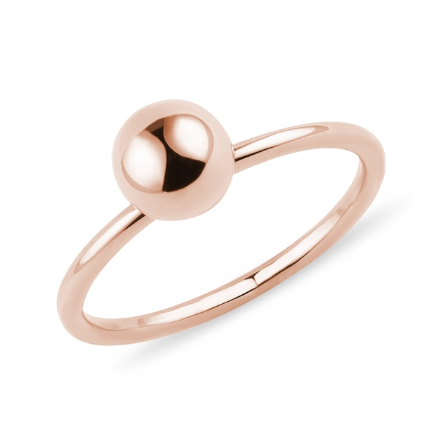 Ball ring in rose gold