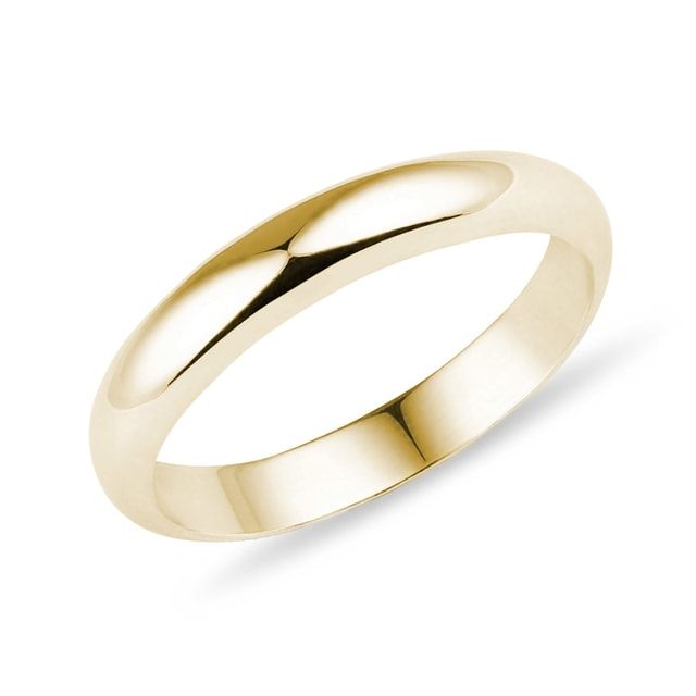 Infinity wedding ring in yellow gold