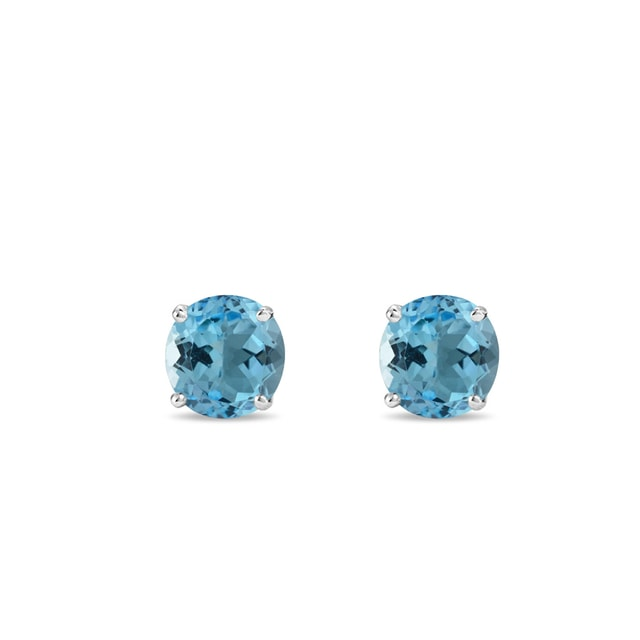 Topaz earrings in sterling silver