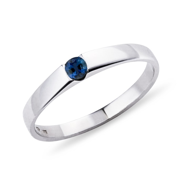 Sapphire 14kt gold ring