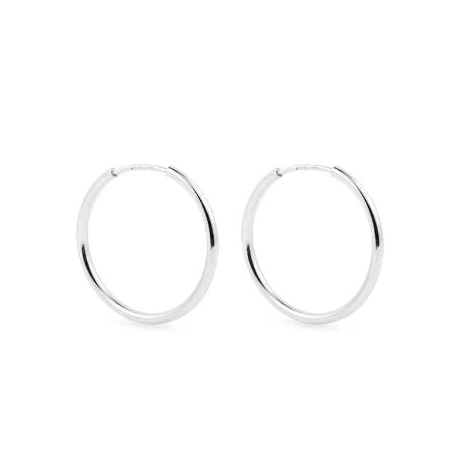 2 cm hoop earrings in white gold
