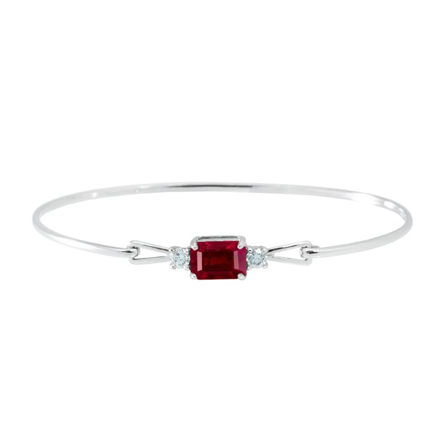 Bracelet en or avec rubis et diamants