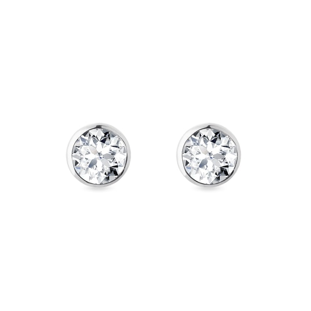 White gold earrings with 0,5ct diamonds