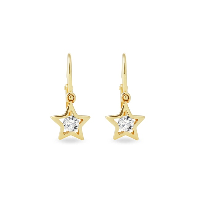 CZ star earrings for kids