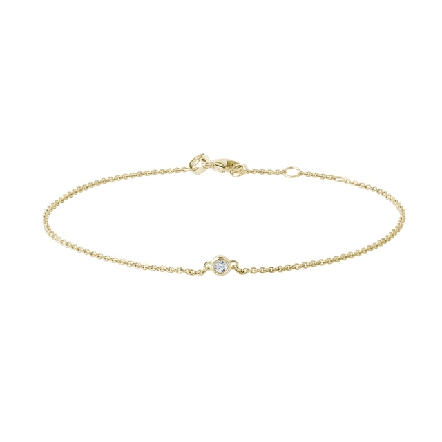 Bracelet en or jaune avec diamants