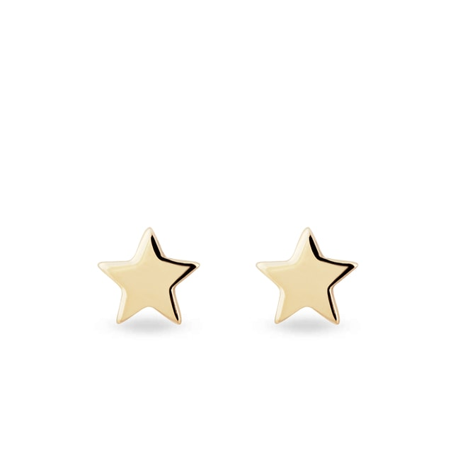 Star shaped earrings in gold