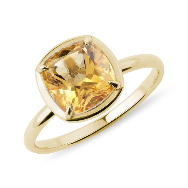 Citrin Ring in Gelbgold