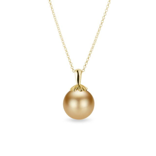 South sea pearl pendant in gold